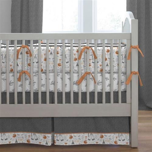 Gray Fox Crib Bedding Fox Crib Bedding Cribs Crib Bedding