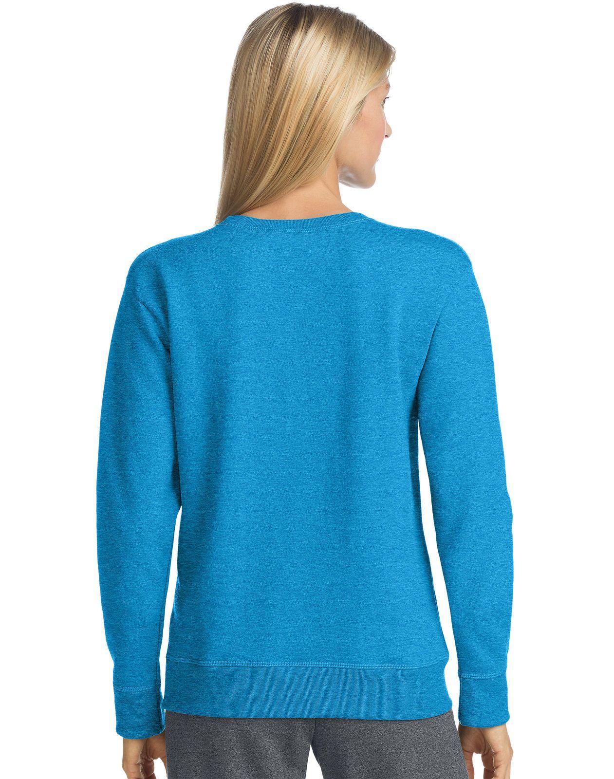 923e2fee8ef Women s Crewneck Sweatshirt Hanes ComfortSoft EcoSmart Fleece Ribbed Hem  Cuffs  11.5 End Date  2019-