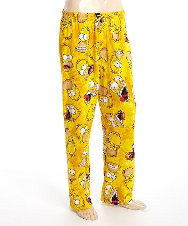Yellow Simpsons Homer Lounge Pants Men Fotos Novios Pijamas Novios