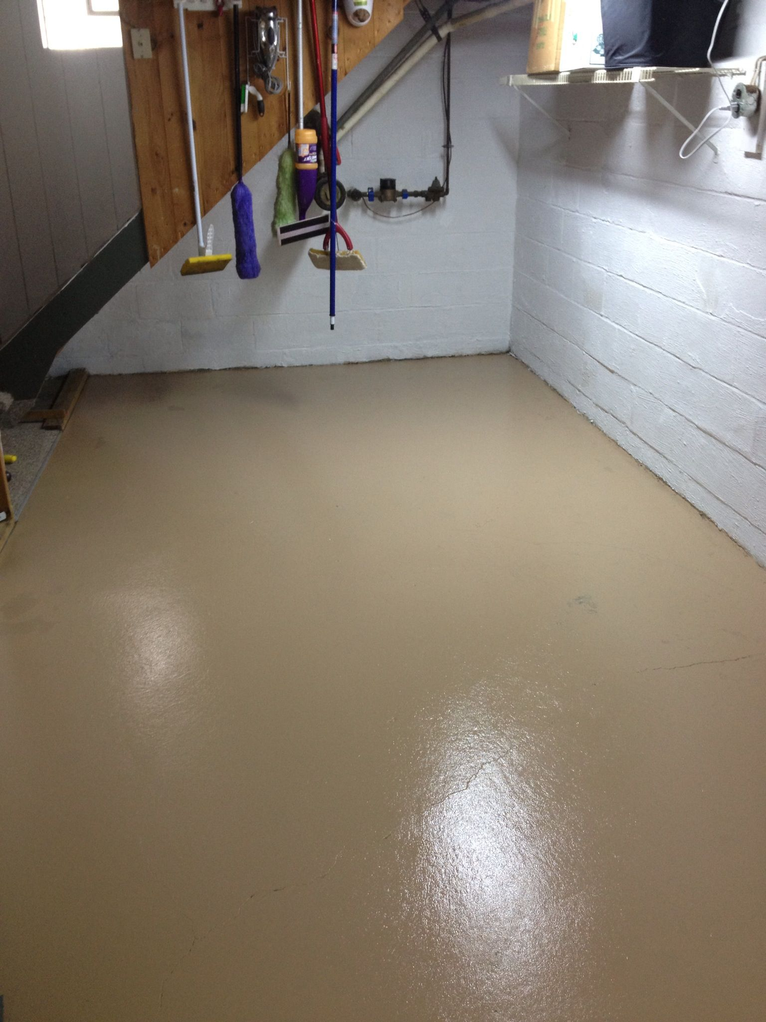 Basement Laundry Room Facelift New Floor Paint And Wall Paint Basement Makeover Room Facelift Laundry Room Update