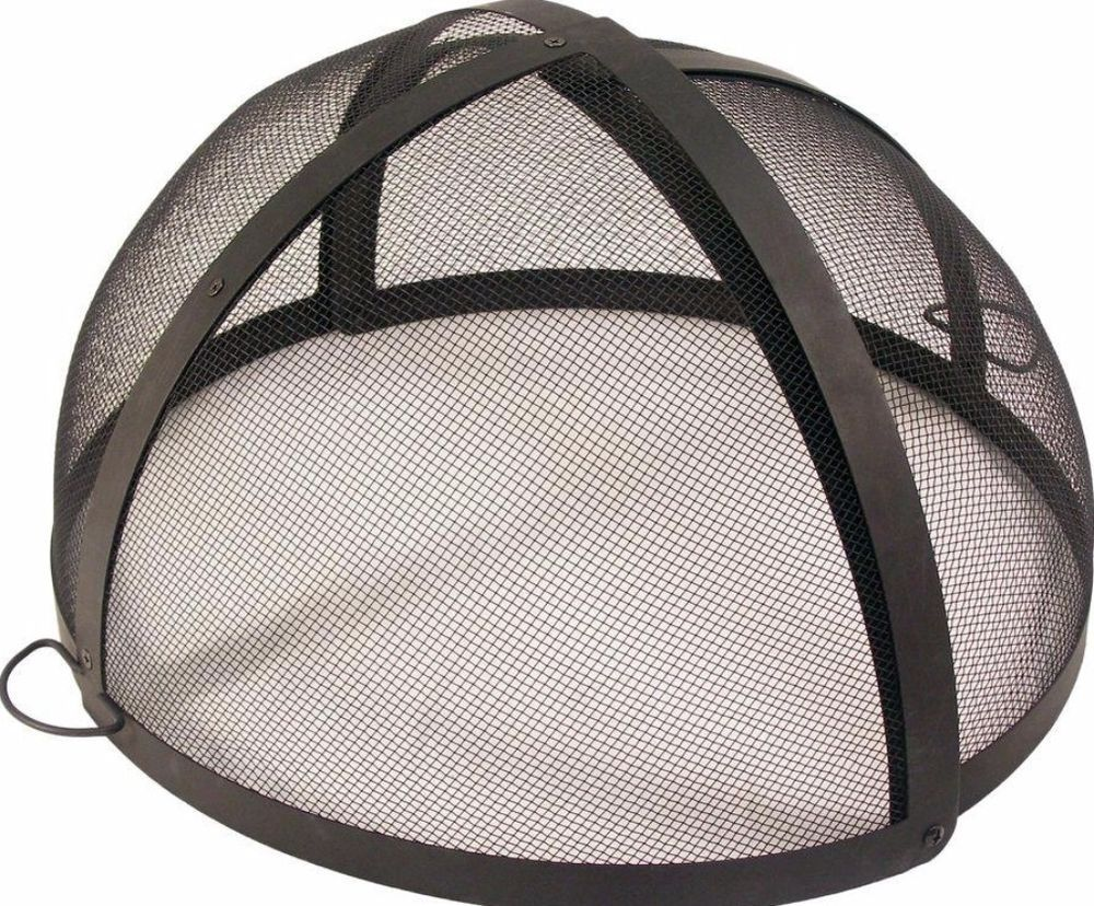 Black 32 in. Fire Pit Folding Spark Screen Outdoor Patio Heating Accessory #firepit screen ...