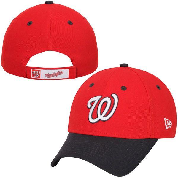 9cc4a368c15 Men s Washington Nationals New Era Red League 9FORTY Adjustable Hat ...