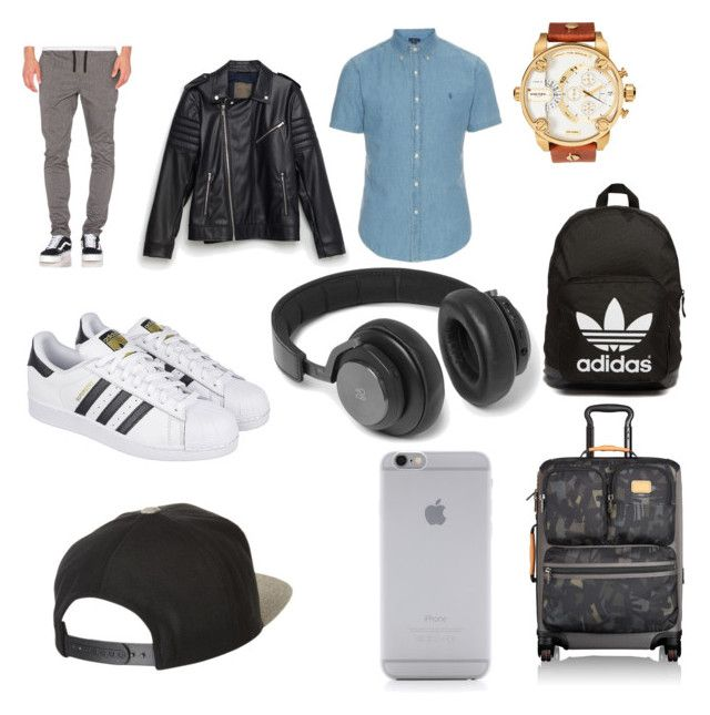 """ir de viaje"" by yarlin-perez on Polyvore featuring Barney Cools, Zara, adidas, Diesel, Tumi, adidas Originals, B&O Play, Native Union, Brixton and men's fashion"