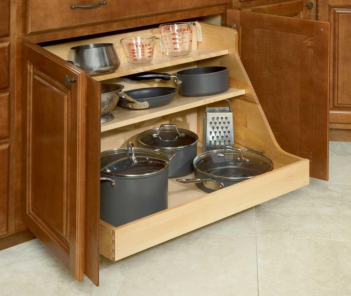 Storage Cabinet For Kitchen: Pot And Pan Organizer