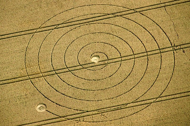 Crop Circle at Chalk Pit, nr Wootton Rivers, Wiltshire. Reported 2nd August 2012.