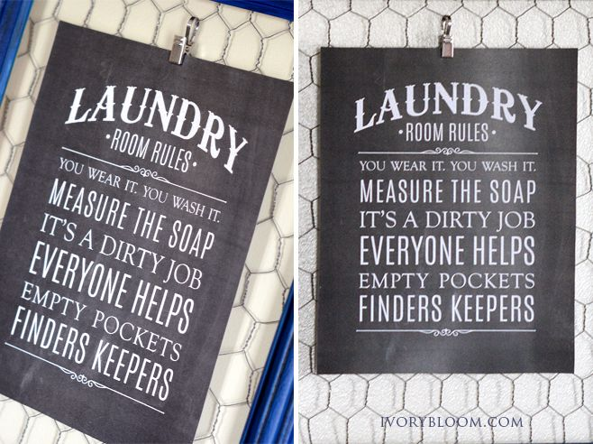 Free Laundry Room Rules Printable Laundry Room Printables
