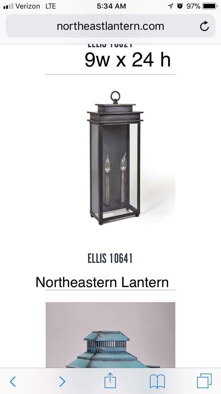 Northeastern Lantern All Copper Lighting Outside