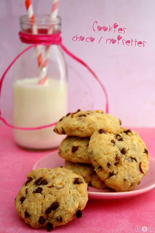 Cookies au chocolat et noisettes Simple et rapide pour un gouter gourmand :)