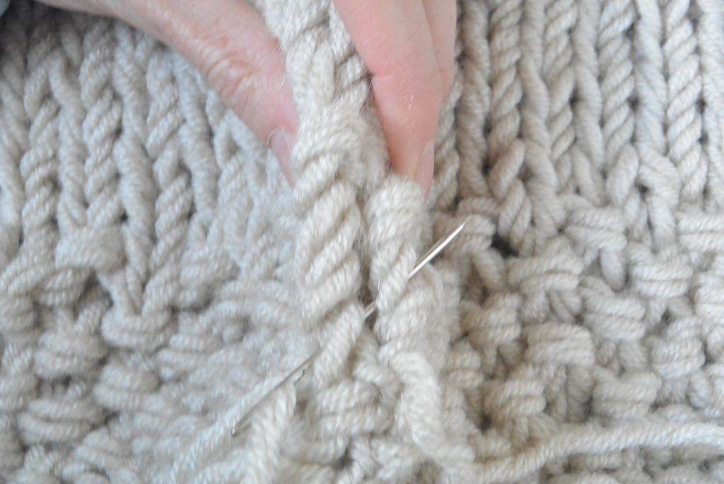 Easy Knit Blanket Sweater Pattern | plexta | Tejidos, Trapillo, Patrones