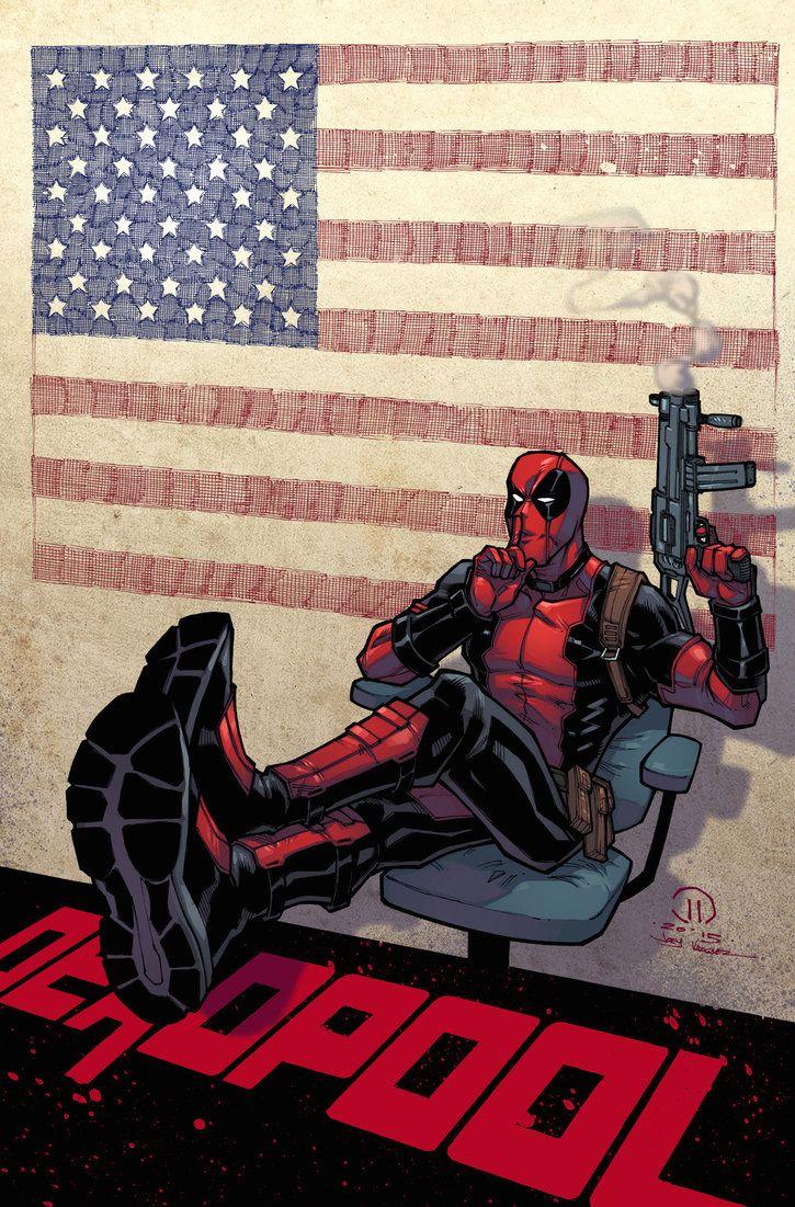 #Deadpool #Fan #Art. (Deadpool president colors) By: Joey Vazquez. (THE * 5 * STÅR * ÅWARD * OF: * AW YEAH, IT'S MAJOR ÅWESOMENESS!!!™) [THANK U 4 PINNING!!!<·><]<©>ÅÅÅ+(OB4E)