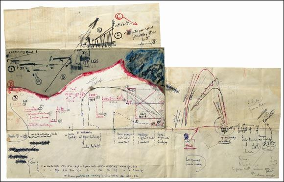 Edgard Varèse (1883–1965), Electronic poem for prerecorded tape (1957–58), collaged diagram, 30.2 x 48.5 cm  Paul Sacher Foundation Basel (Edgard Varèse collection)