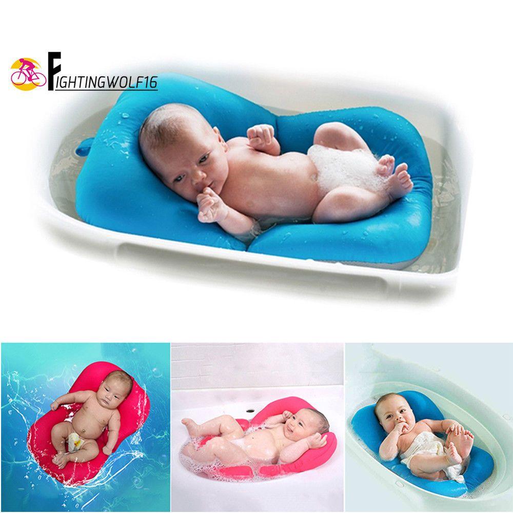 Non Slip Baby Bathing Mat Soft Foldable Newborn Security Bath Seat