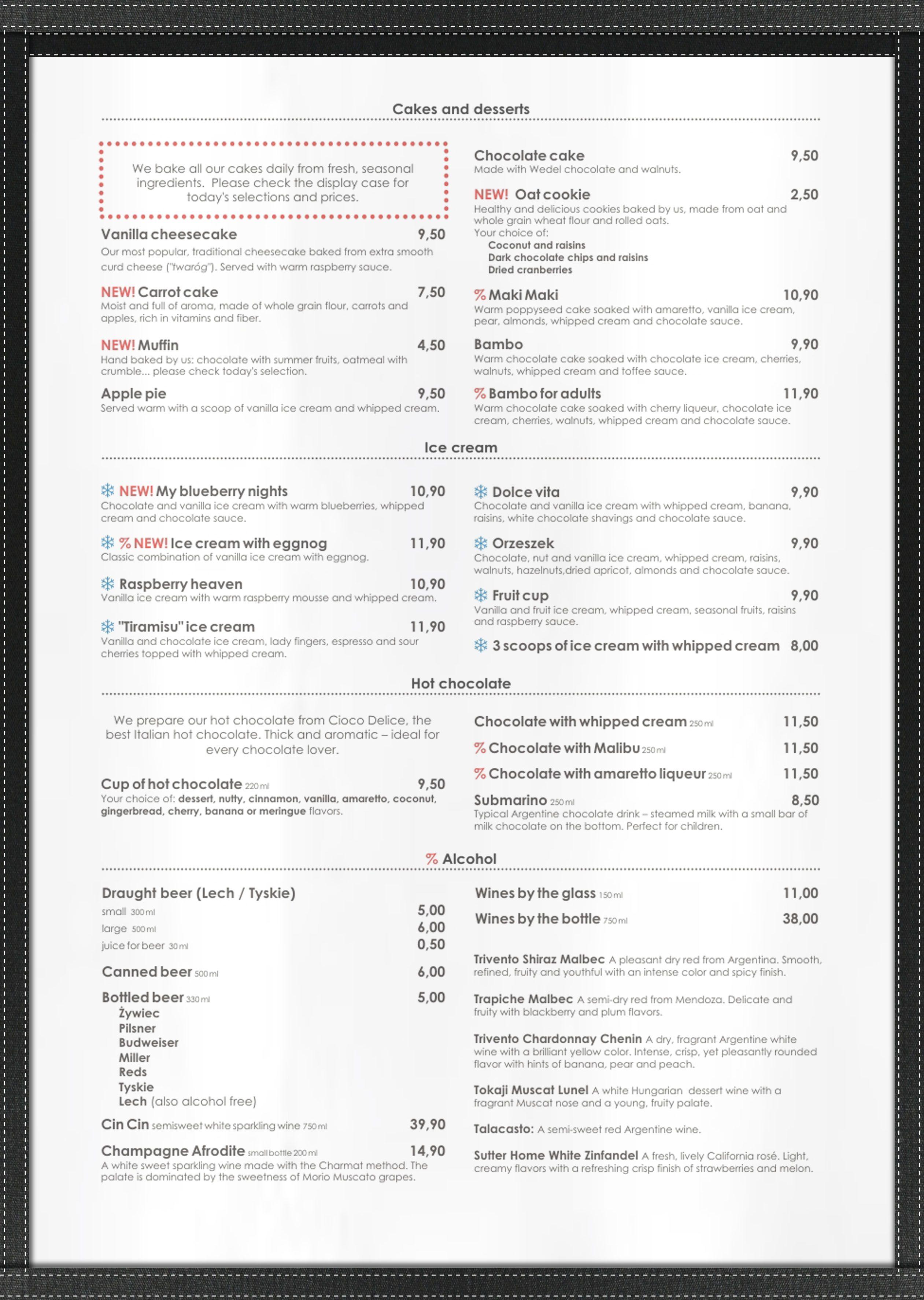 Cafe Cover A3 Black Buckram Single Panel Menu Cover Design Menu Cover Cover