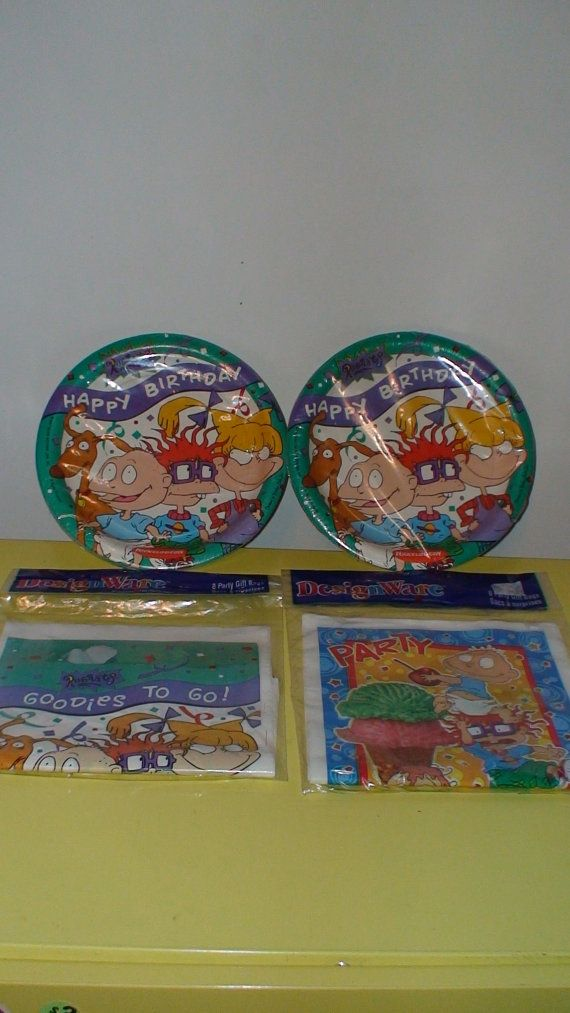 90 S Rugrats Birthday Party Supplies Party Plates By Lolidolldiy 8 00 Birthday Party Supplies Twin Birthday Parties 90s Theme Party