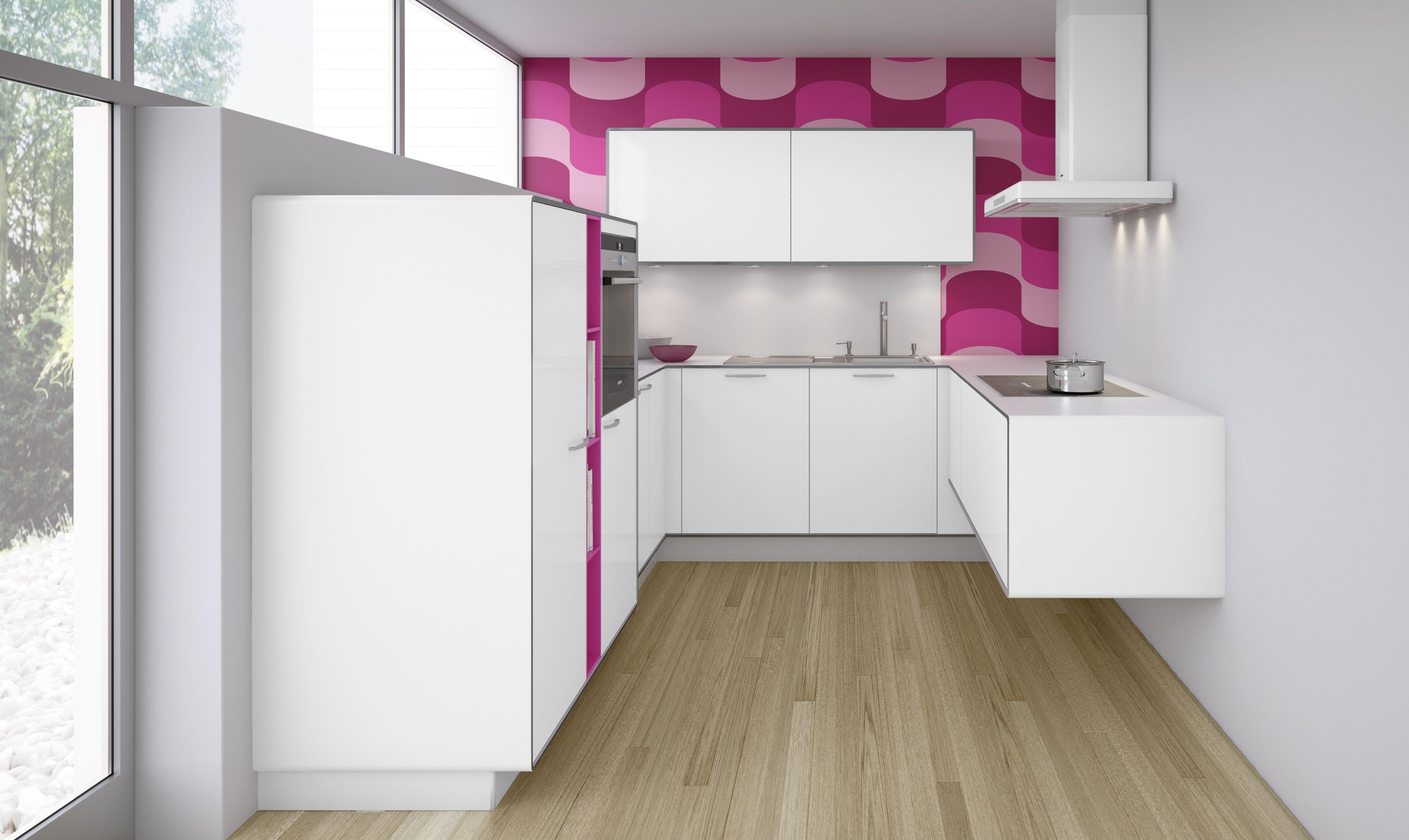 Pia Icy White W A Splash Of Hot Pink From Allmilmo Design Interior Home Decor