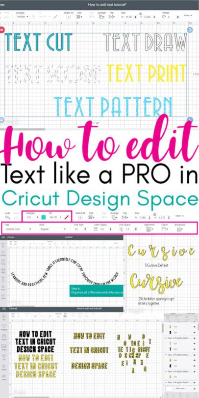 How to Edit Text in Cricut Design Space Like a Pro #cricutvinylprojects