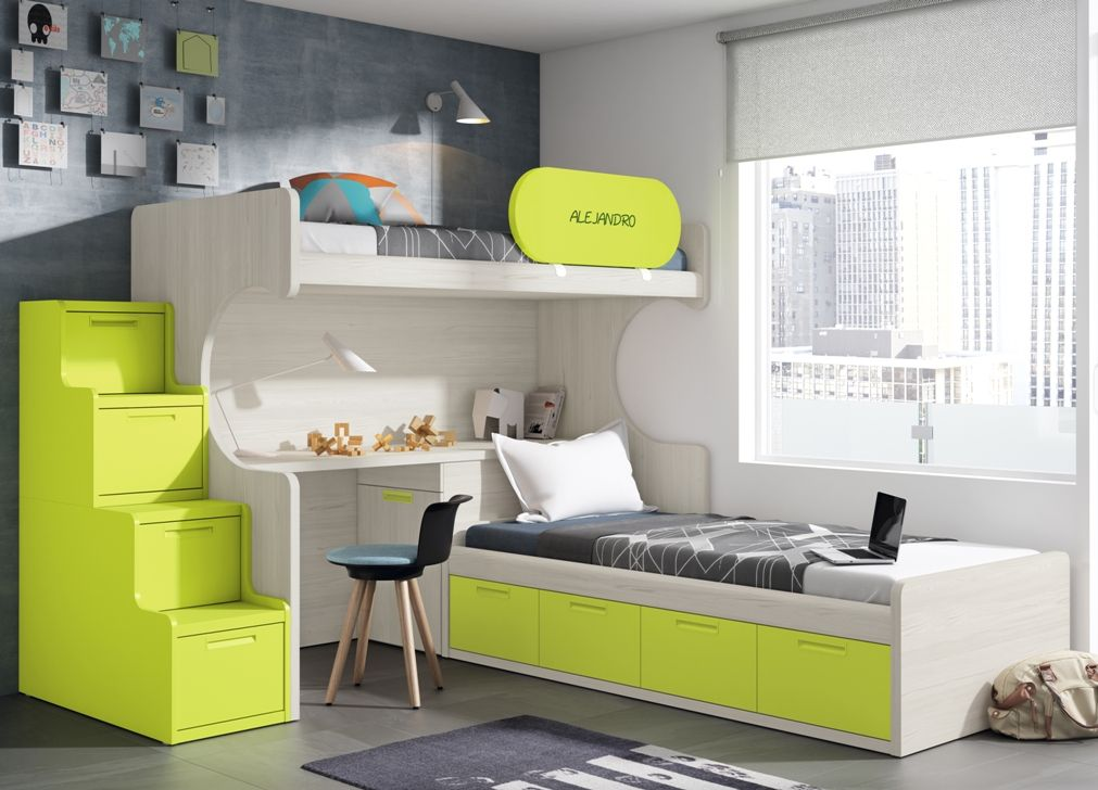 Double room shared room dormitorio doble habitacion - Habitacion infantil doble ...