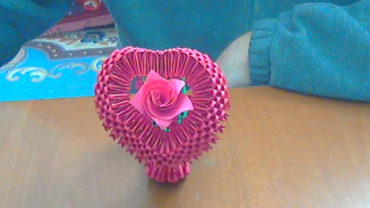 How to make a 3d origami heart crafts ideas and other things how to make a 3d origami heart jeuxipadfo Image collections
