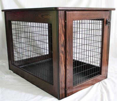 Wooden dog crate amish made ebay 330 dogs pinterest for Amish wooden dog crates