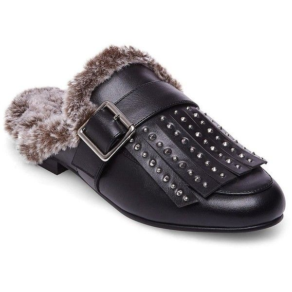 Design Lab Lord & Taylor Women's Vett Faux Fur Leather Mule ($47) ❤ liked