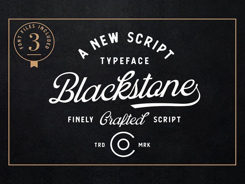 Blackstone Script Minimalist Logo Design Lettering Fonts Masculine Script Fonts