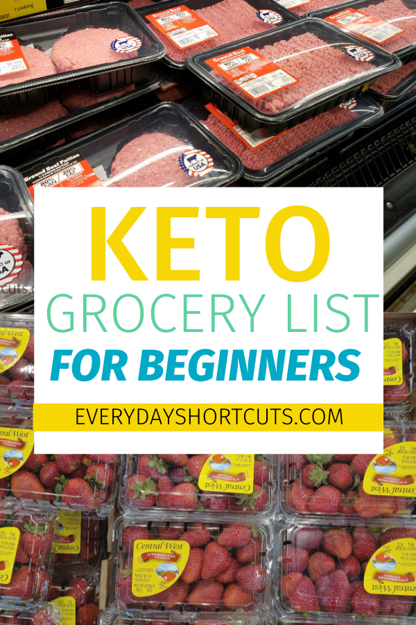 Keto Grocery List for Beginners Keto, Grocery lists