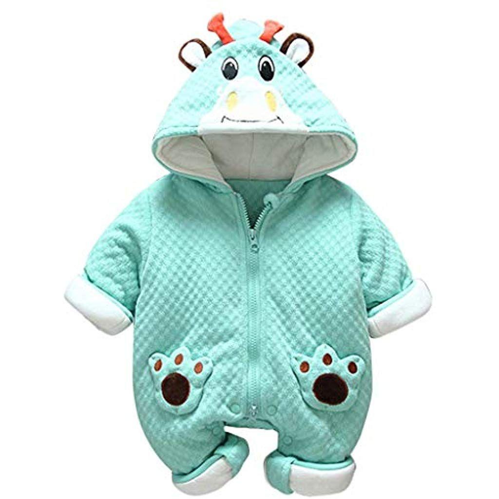 73 Baby Winter Fleece Overall Mit Kapuze M/ädchen Jungen Schneeanz/üge Warm Strampler Outfits Blau 6-9 Monate