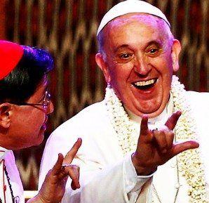 Bildergebnis für pope francis false prophet with the devils sign images