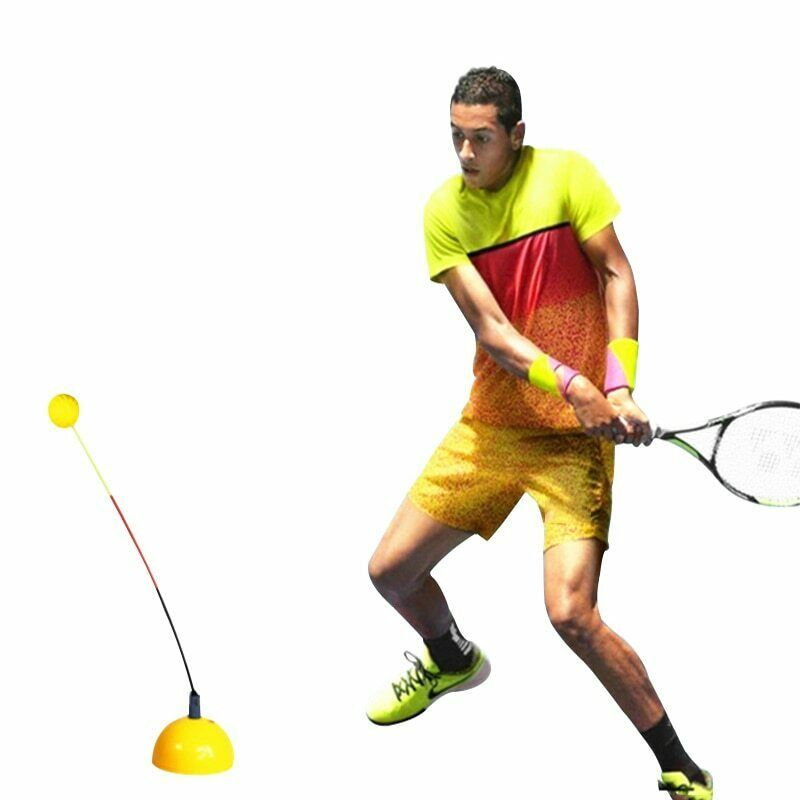 Advertisement Ebay Professional Tennis Trainer Portable Swing Tool Practice Training Ball Machine Training Tools Fun Sports Tennis Racquet