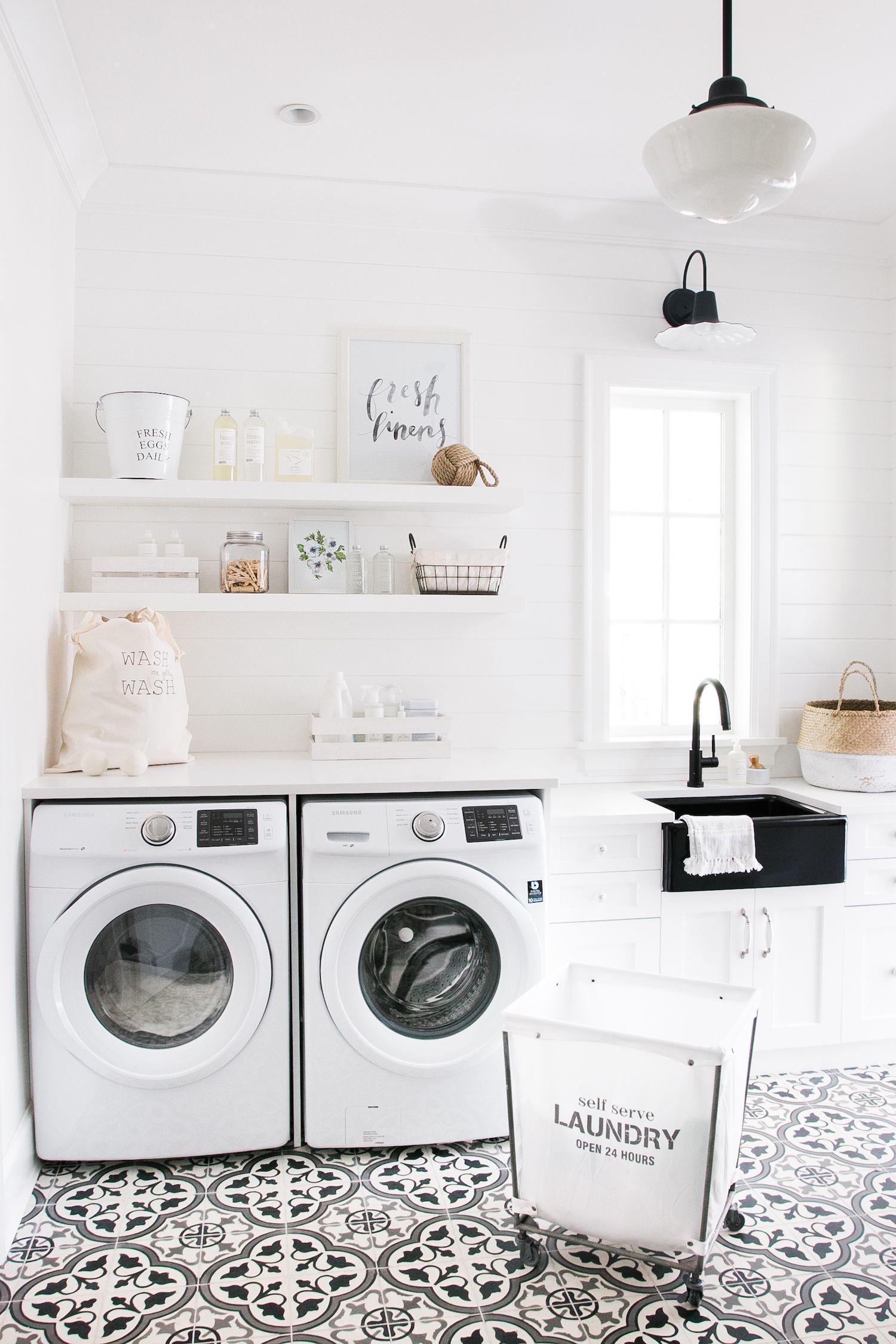 A Laundry Room Mud Room Monika Hibbs White Laundry Rooms Laundry In Bathroom Laundry Mud Room