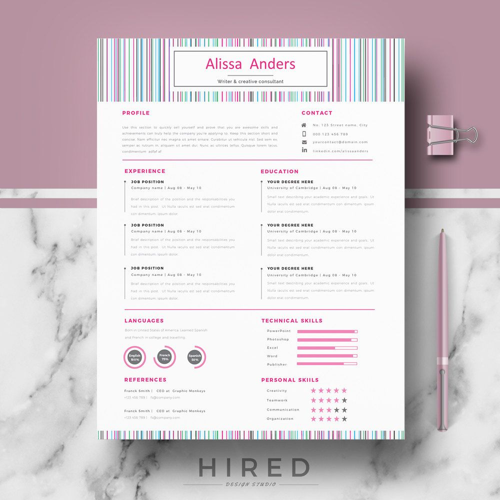 creative cv  resume template  modern cv templates for word  u0026 pages  cv  resume  cover letter