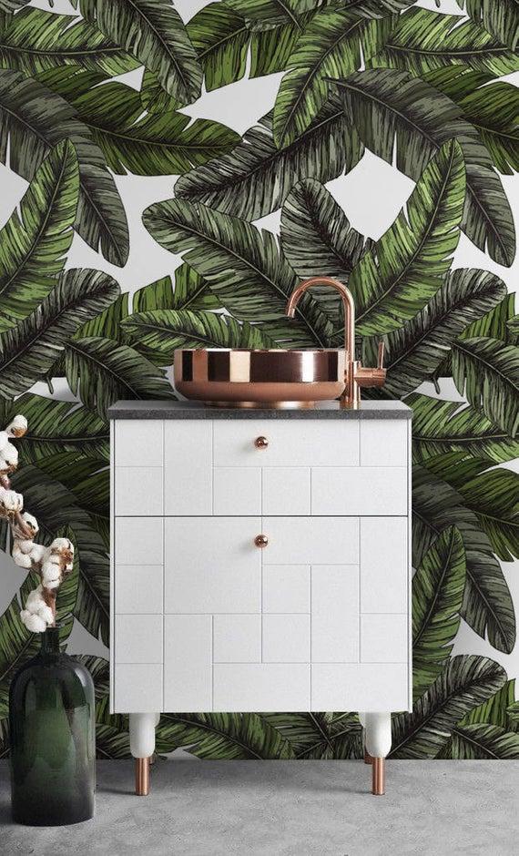 Banana Leaves Wallpaper Self Adhesive Wall Covering