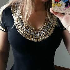 Resultado de imagen para blusas en seda con pedreria Blusas De Seda b79a136829fc6