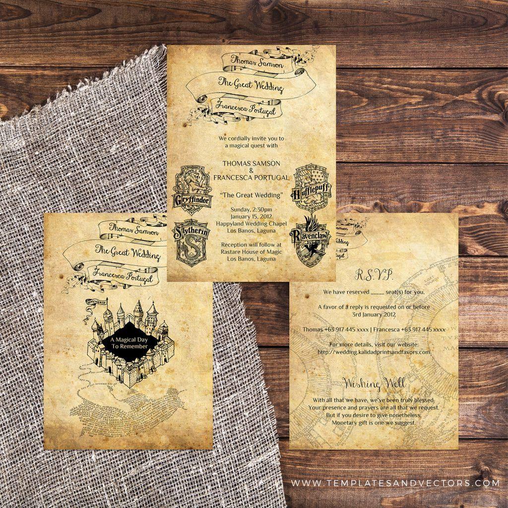 Harry Potter Wedding Invitation Templates Luxury Harry Potter