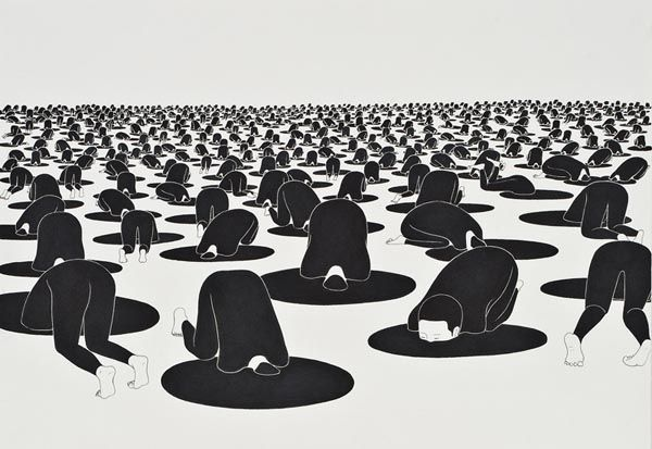 Black And White Korean Art