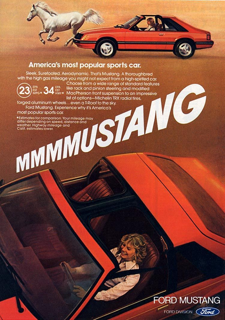 1981 Ford Mustang Ad America's most popular sports car