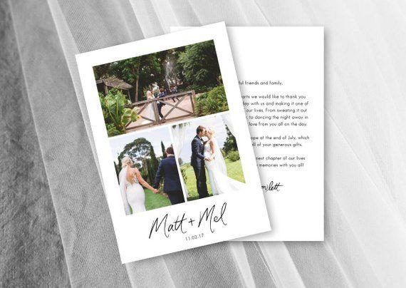 Wedding Thank You Card With Photos Printable Wedding Thank You Notes Template Photo Thank You Cards Thank You Cards Wedding Thank You
