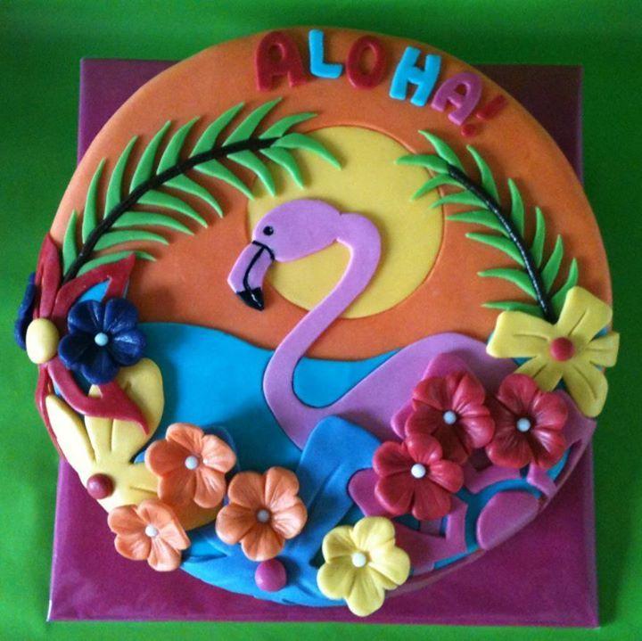 hawaii taart Op en Top Taart   Hawaii | feestje hawai | Pinterest | Flamingo  hawaii taart