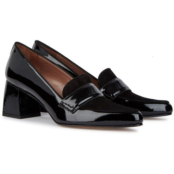 663d44a6698e Tabitha Simmons Margot Patent Leather And Suede Loafers - Size 3 ( 510) ❤  liked