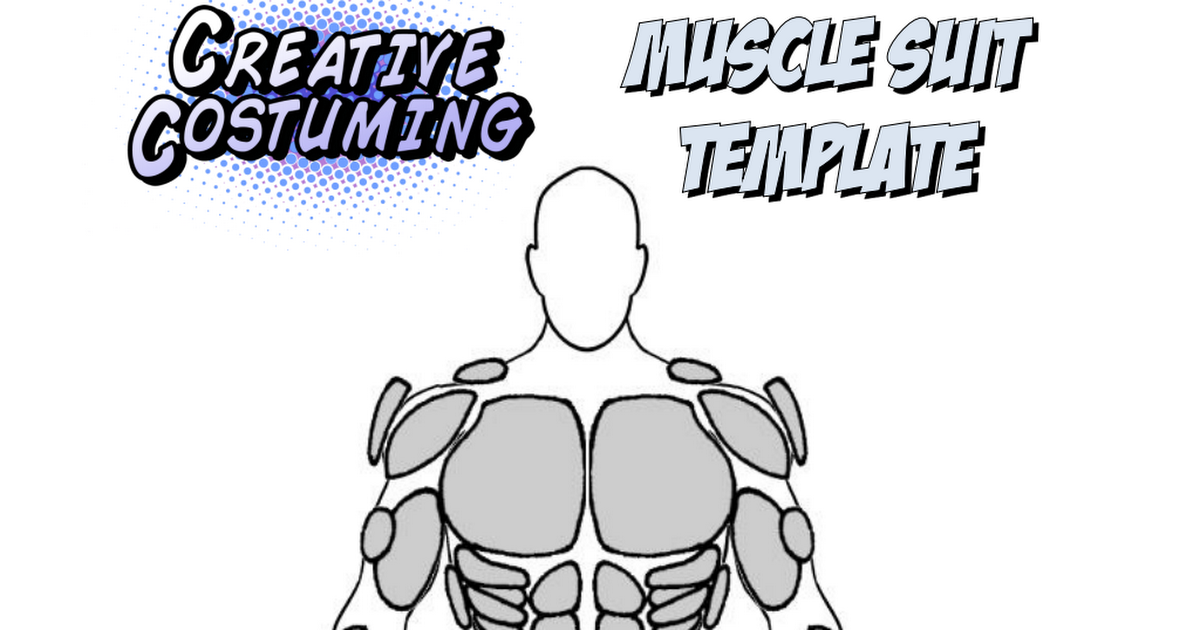 muscle template pdf cosplay pinterest templates cosplay