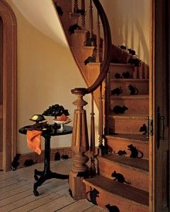 Decorating for Halloween just tape some silhouette mice to your stairs for that extra touch.