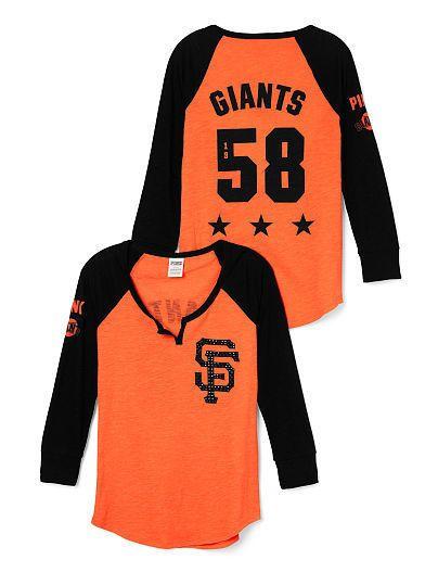 super popular 9f7c9 75ff6 Details about Victoria Secret PINK San Francisco Giants ...