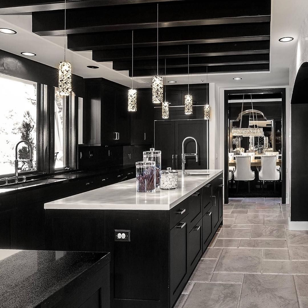 Kitchen Renovation Trends 2015 27 Ideas To Inspire: Swipe And Enjoy This Dramatic Black And White Design! By