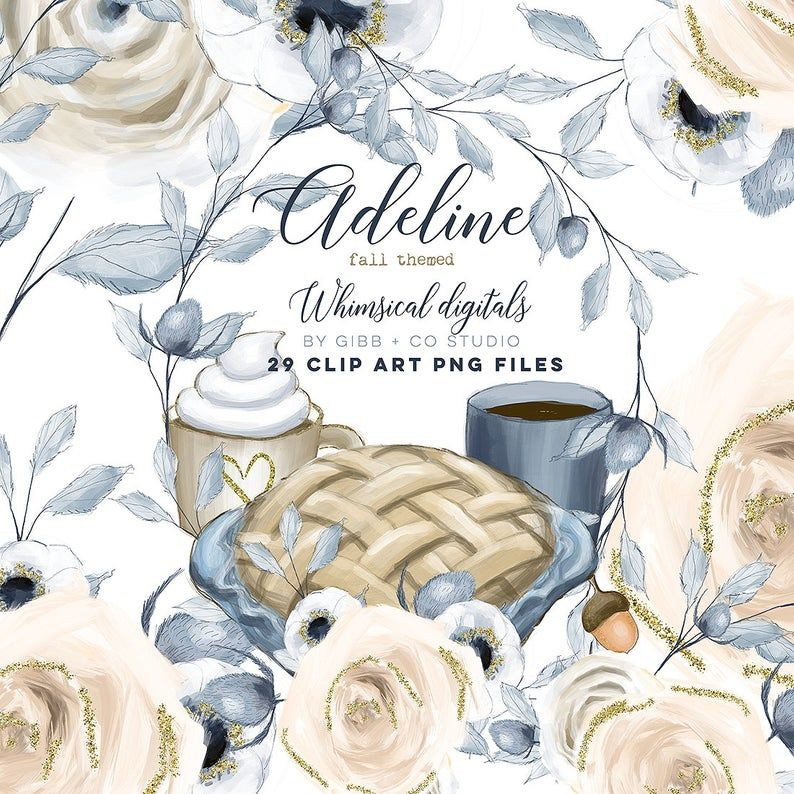 Fall theme Clipart, planner graphics, boho girl clip art ...