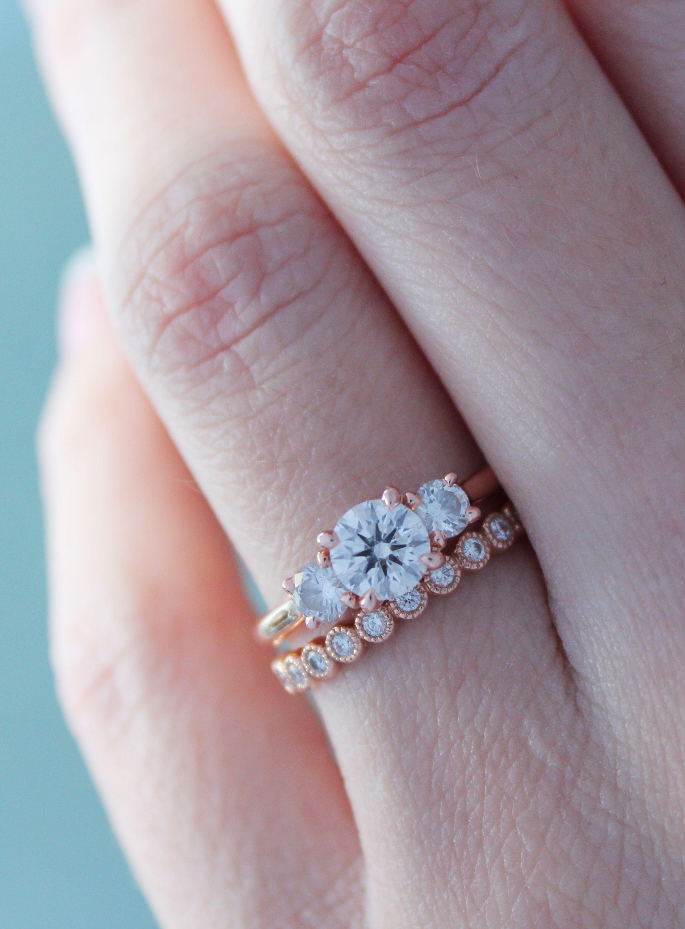 Luxury Rose Gold Eternity Wedding Ring