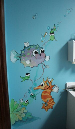 underwater scene for nursery church art worth breathing pinterest kreative. Black Bedroom Furniture Sets. Home Design Ideas