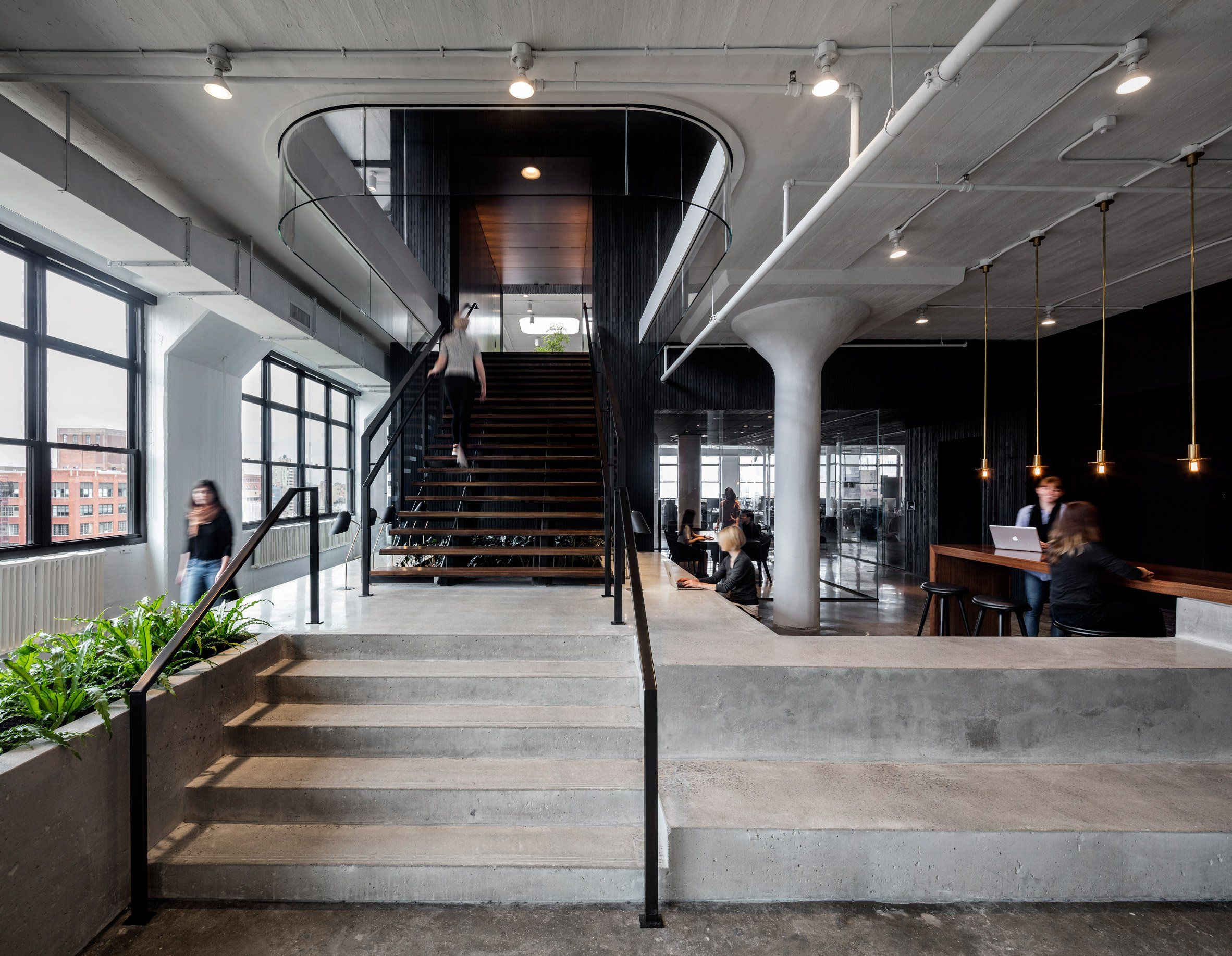 "Office Design Blogs Ai Uses ""yinyang"" Palette For Squarespace Headquarters In New ."