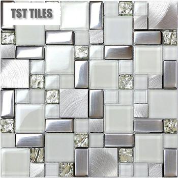 Metal Mosaic Tile Silver Kitchen Backsplash Bath Wall Diamond Gl 6127 Google Search