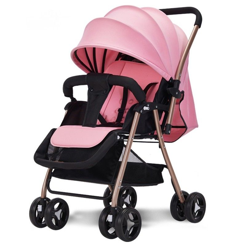 516A Twoway Sitting Reclining Stroller Flamingo Pink