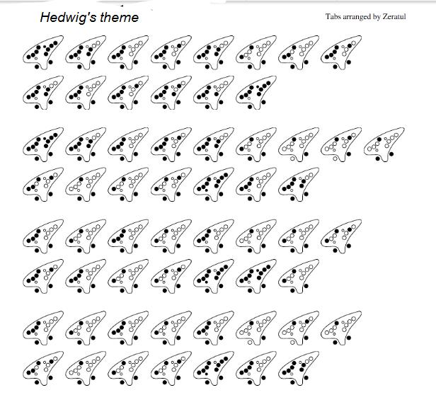 John Williams Hedwig S Theme Ocarina Music Ocarina Tabs Music Tabs